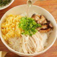 市販のサラダチキン+レンジで簡単!お手軽「鶏飯(けいはん)」♪