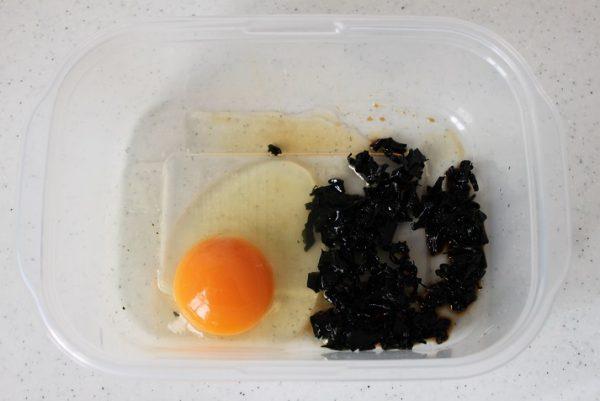 卵とわかめ