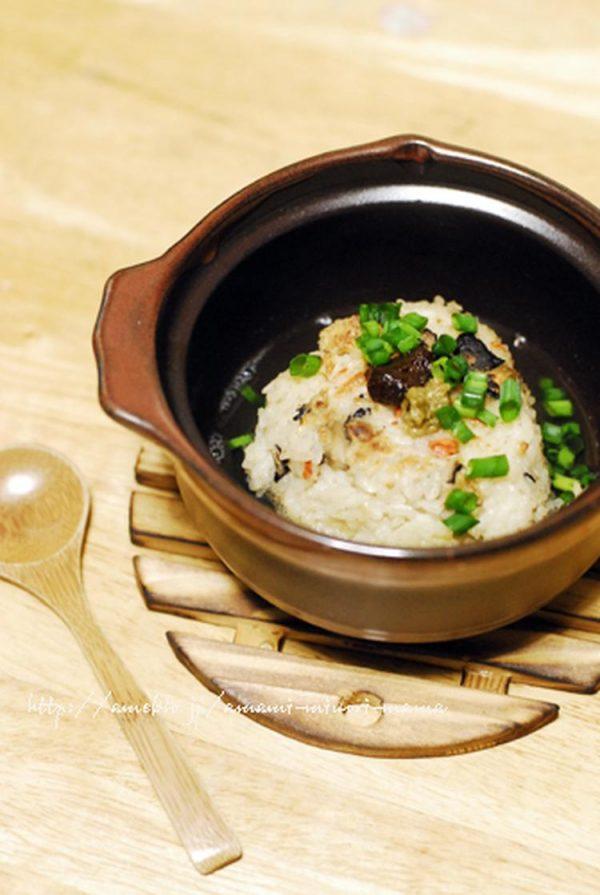 余った炊き込みご飯で焼きおにぎり茶漬け by:kibi-sugarさん