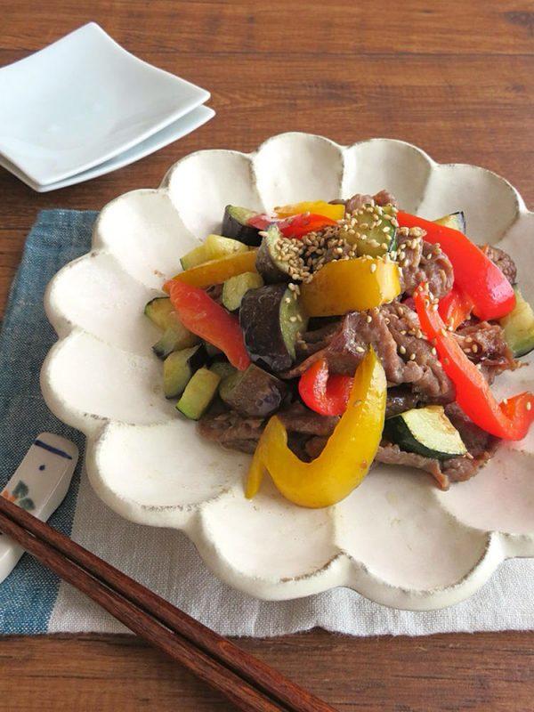 スタミナたっぷり◎牛肉と夏野菜の生姜焼き by:kaana57さん