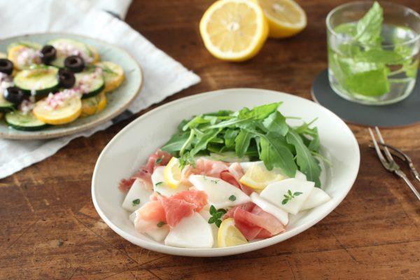 レモンハーブ風味♪「かぶと生ハムのサラダ」