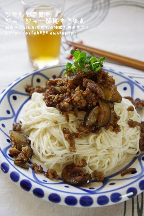 なすとひき肉のジャージャー麺風そうめん by:高羽ゆきさん