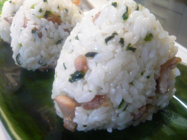 塩豚と若菜の混ぜおにぎり by:いーたんのママゴトさん