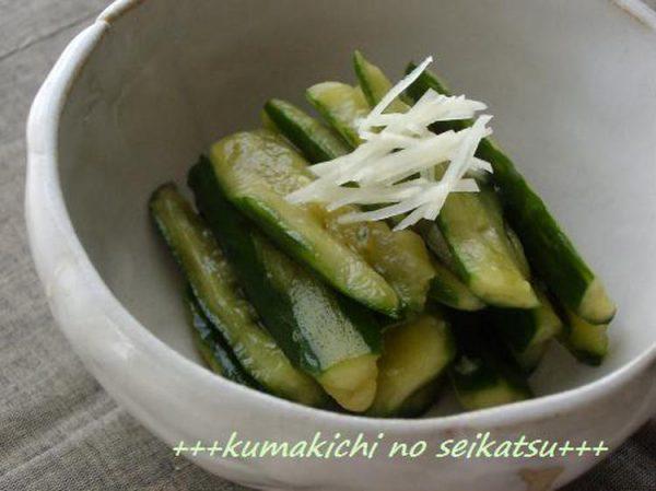 ●超簡単♪たたききゅうりの梅しそぽん酢漬け☆ by:kumakichiさん
