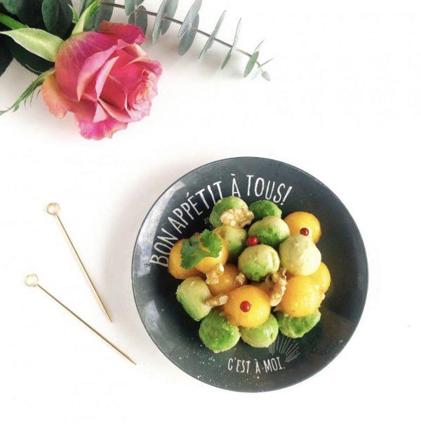 アボカドと柿と胡桃のサラダ