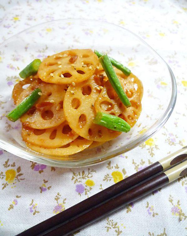 1行レシピ♪レンコンの梅キムチきんぴら by:machiさん