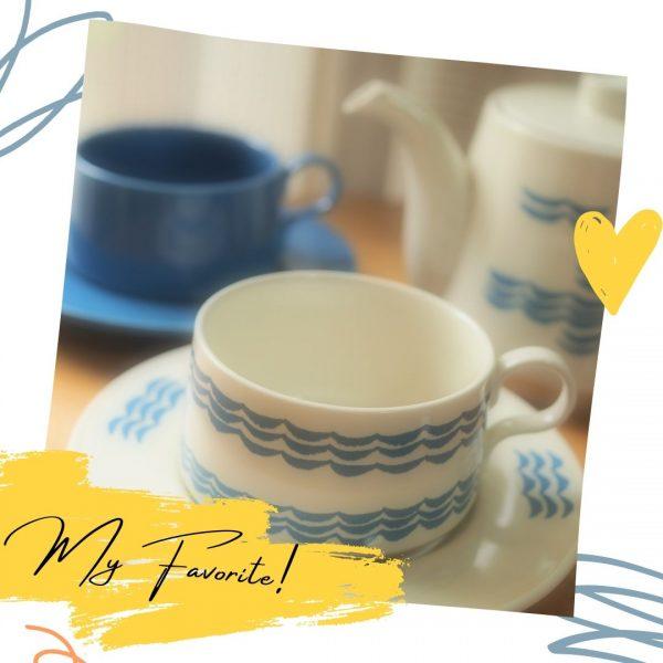西海陶器のティーカップ