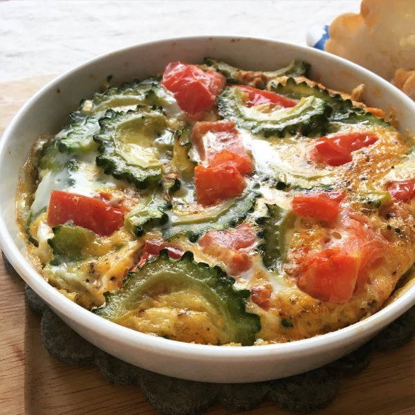 野菜200gで夏バテ予防!トマトとゴーヤの「トースターオムレツ」 by:ヤミー(清水美紀)さん