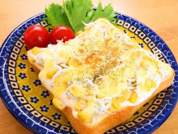 しらすとコーンのチーズトースト by:kaana57さん