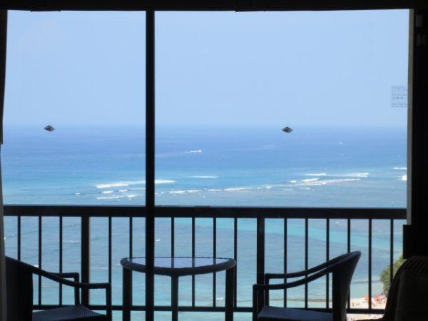 海が見えるベランダ