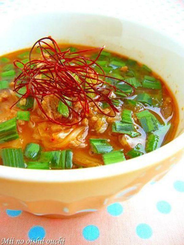 燃えろ!キムチの赤いスープ by:みぃさん