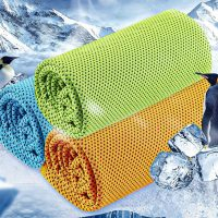 水につけて振ればひんやり!熱中症対策に◎「冷却スポーツタオル」