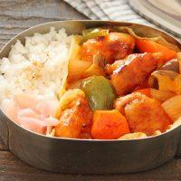 野菜ゴロゴロ!簡単「酢鶏」「マヨ薄焼き卵」2品弁当