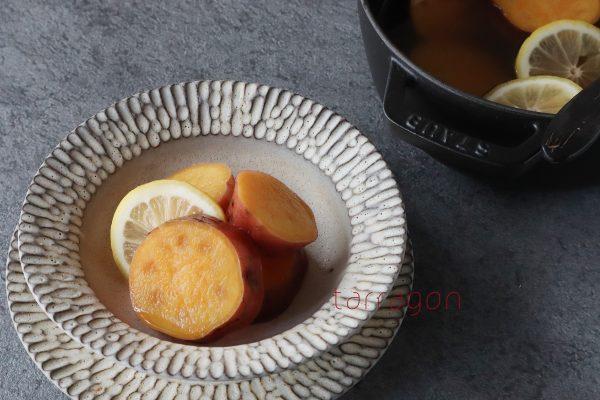 あると便利な常備菜♪簡単「さつまいものさっぱりレモン煮」