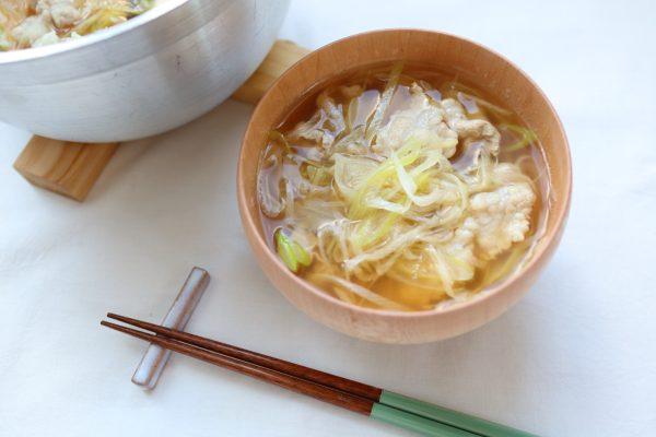 煮込まず簡単!免疫力を高める「ねぎと豚のしゃぶしゃぶ風スープ」
