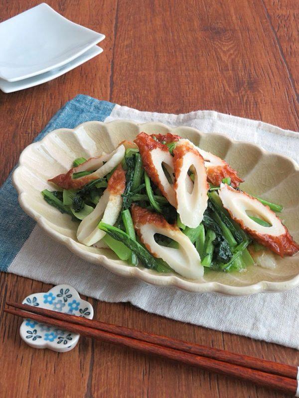 簡単和惣菜◎小松菜とちくわのさっぱり塩炒め by:kaana57さん