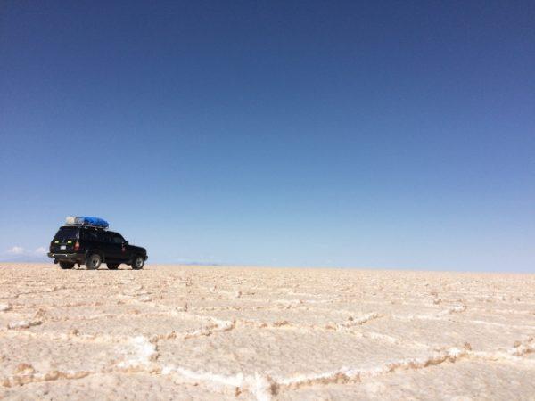 乾季のウユニ塩湖