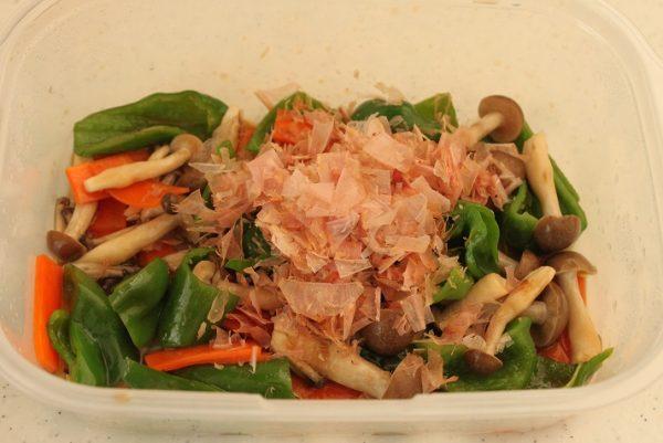 レンジ野菜炒めオイスターソース味