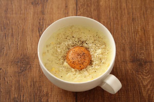レンジ5分で簡単!「濃厚コンポタスープご飯」の作り方♪