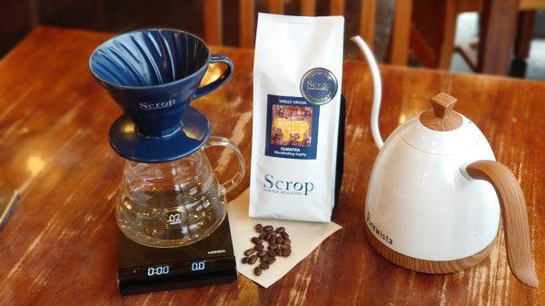 ハンドドリップコーヒーの道具と材料