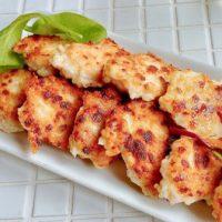 チーズがカリッ!混ぜて焼くだけで簡単「チーズチキンナゲット」の作り置き