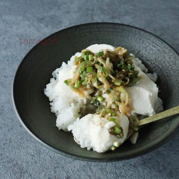 5分で簡単!豆腐とザーサイの「のっけ丼」