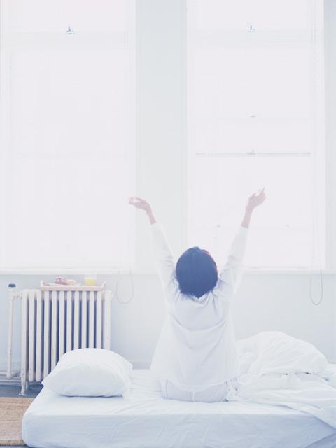 気持ちのいい目覚めは、太陽の光から