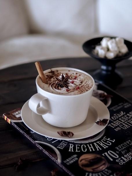 朝のカフェラテタイム