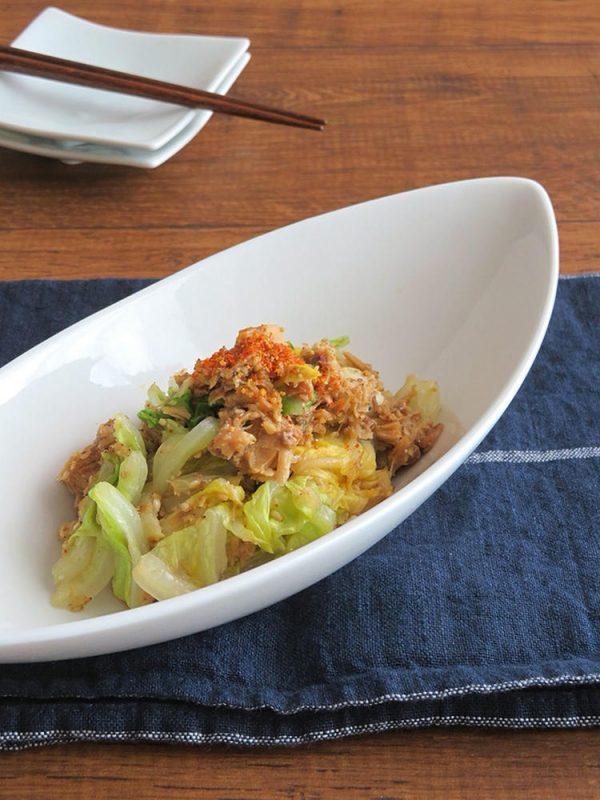 簡単☆白菜とさば缶のピリ辛七味ごま和え by:kaana57さん