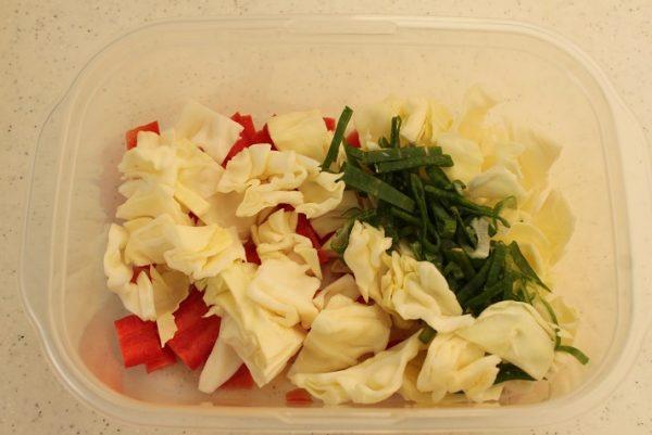 野菜とそぼろ