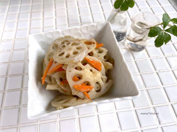 山椒がぴりっ♪ご飯がすすむ簡単作り置き「れんこん塩きんぴら」