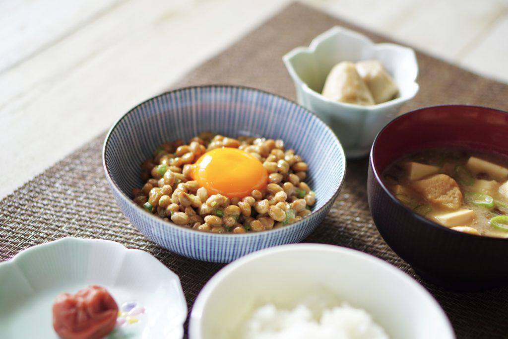 納豆和朝食