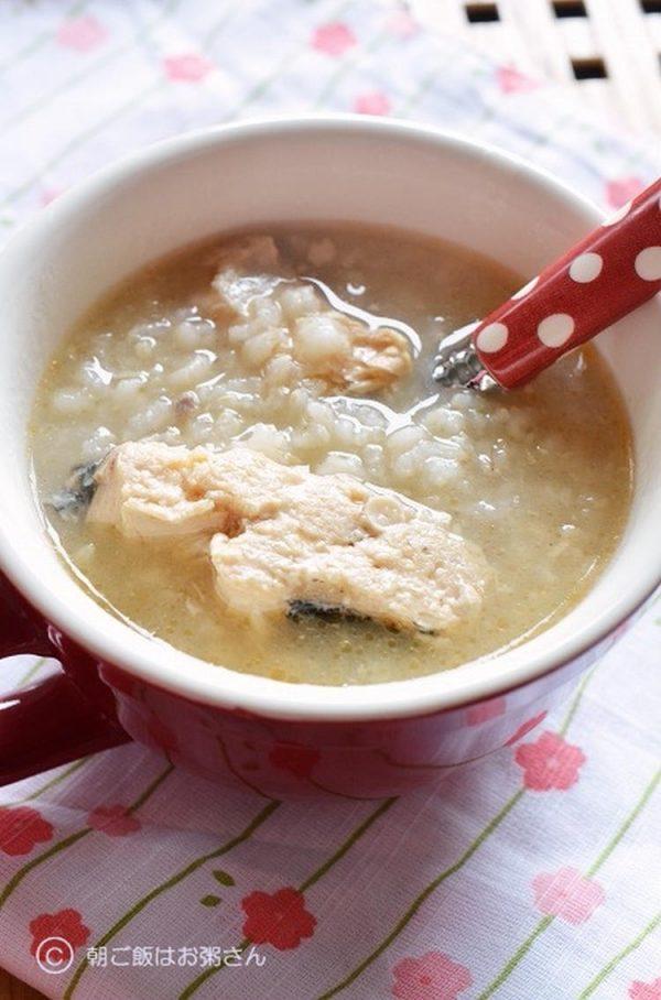 〈炊飯器で簡単!鮭缶でごちそうお粥さん〉 by:槙かおるさん