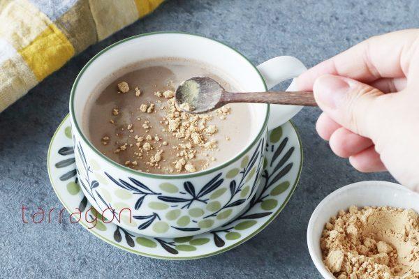 肌寒い朝に。簡単ぽかぽか「豆乳きなこのジンジャーココア」byタラゴン(奥津純子)さん