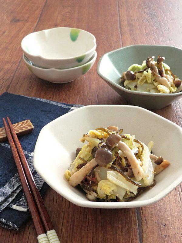 レンジで簡単☆白菜としめじのゆず胡椒和え