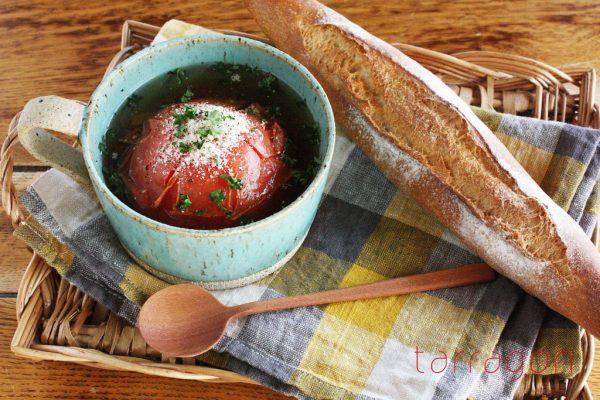 レンジで4分♪崩しながら食べる「まるごとトマトスープ」 by:タラゴン(奥津純子)さん