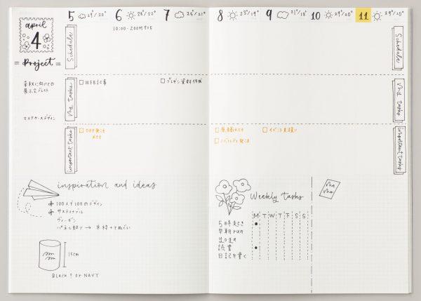 手帳のページ
