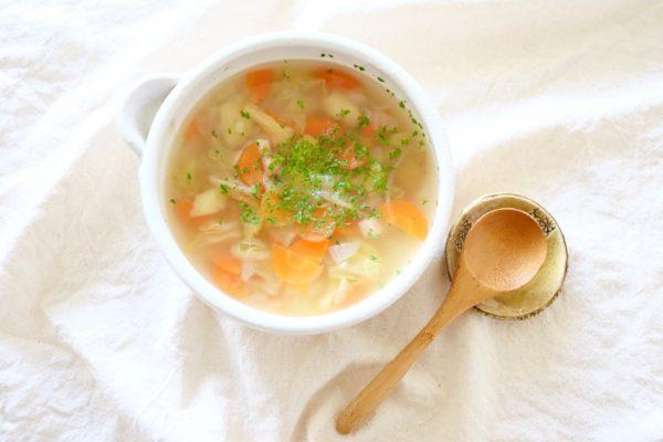 朝美人アンバサダー倉口ゆうみさん_野菜スープ