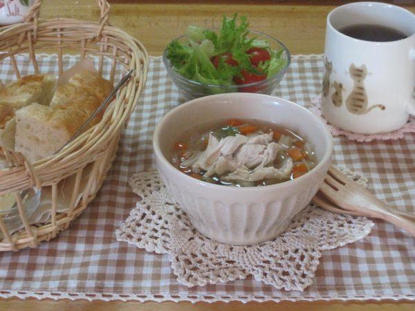 鶏野菜スープで朝ご飯☆ by:メロンさん