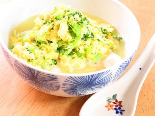 ヘルシー和総菜◎ブロッコリーの卵とじ豆腐