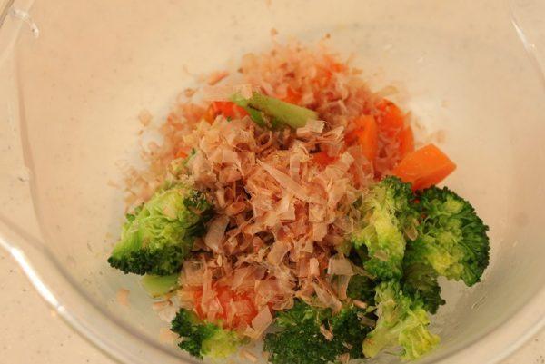 野菜と卵の蒸し煮