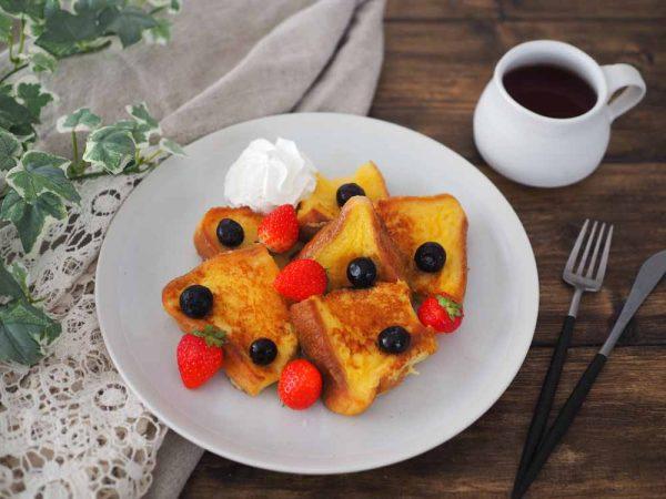 朝美人アンバサダーrikaさん_基本のフレンチトースト