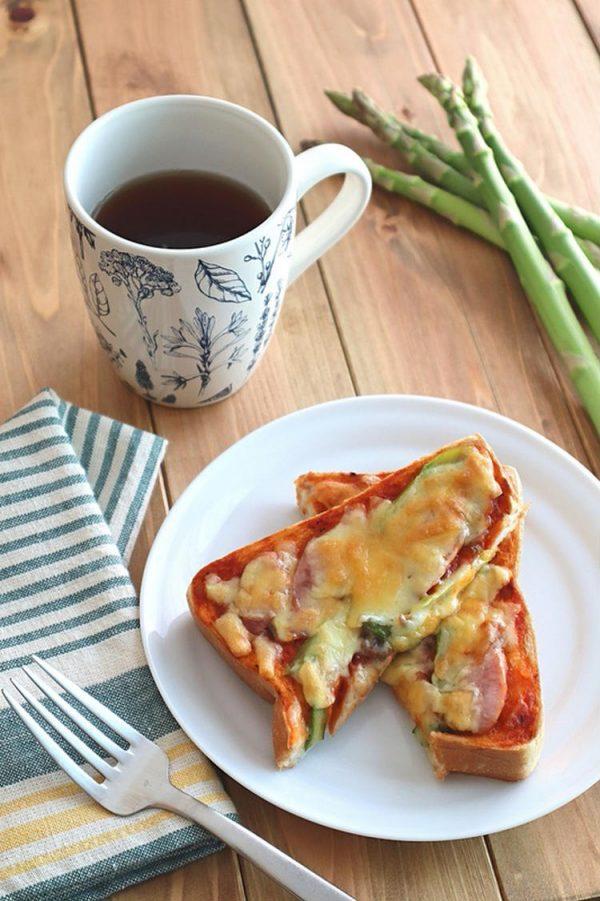 【冷凍作りおきトースト】アスパラガスとウインナーのチーズトースト by:kaana57さん
