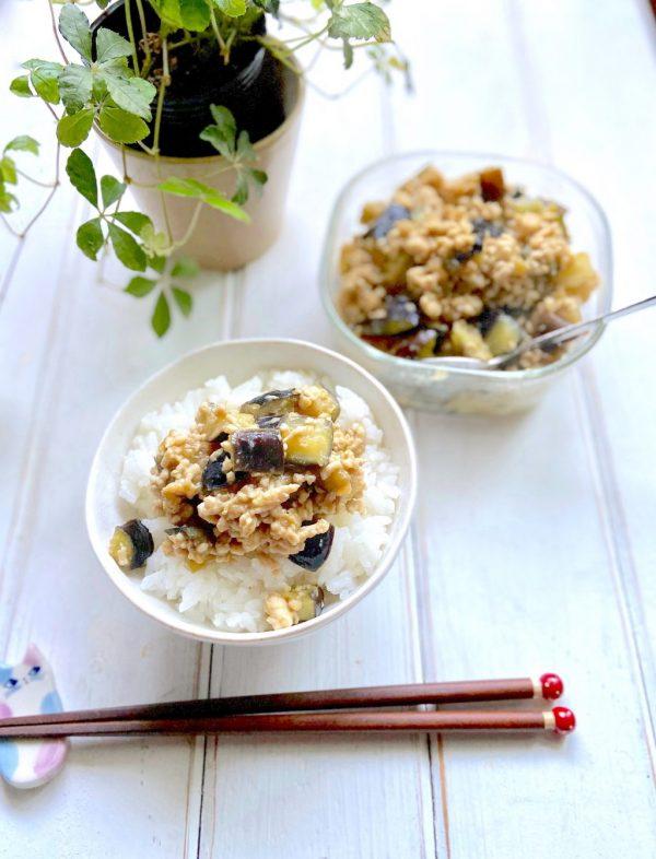 濃いめの味付けでご飯が進む!「なす味噌そぼろ」の作り置き by:Mayu*さん