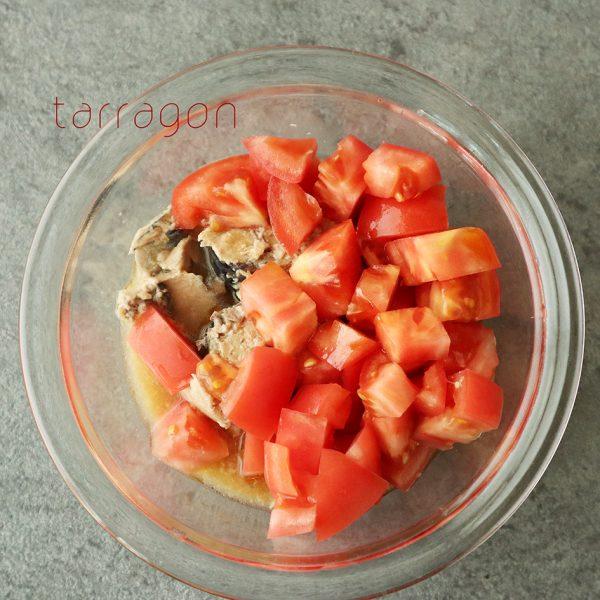 トマトとさば缶