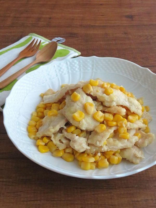 食欲そそる♪鶏むね肉の塩バターコーン炒め bykaana57さん