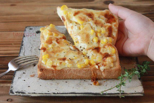 「コーンマヨチーズトースト」♪