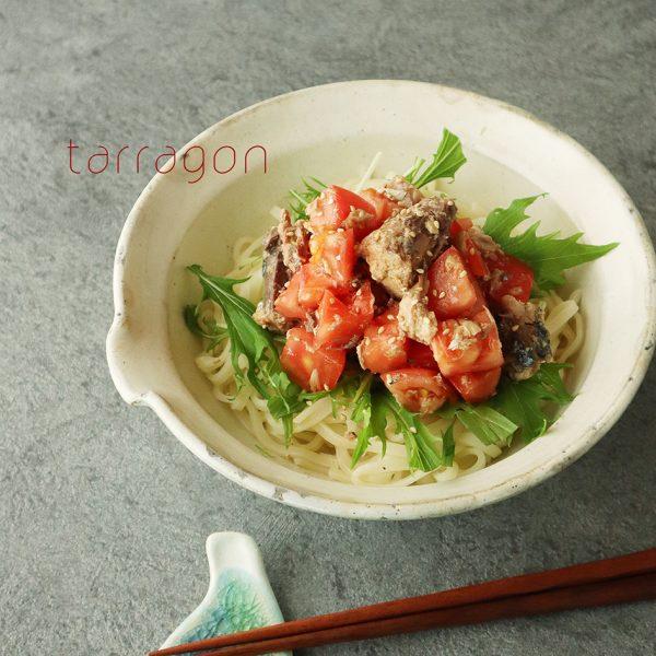 さっぱりヘルシー♪さば缶とトマトで簡単「冷やしサラダうどん」 byタラゴン(奥津純子)さん