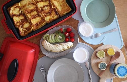 フレンチトースト朝ごはん
