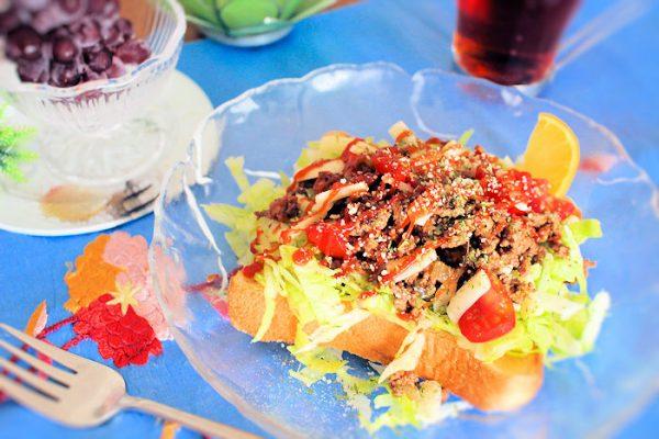 タコライス風トースト